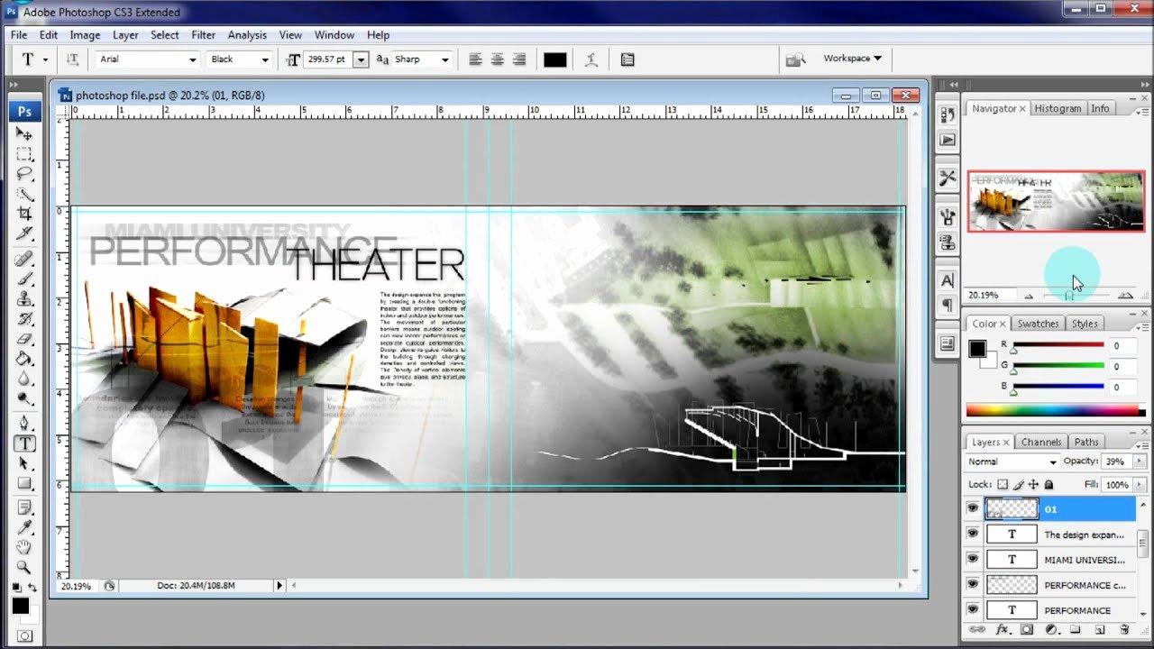 Architecture Portfolio Template Indesign Elegant Architecture Portfolio Tutorial Adding Text