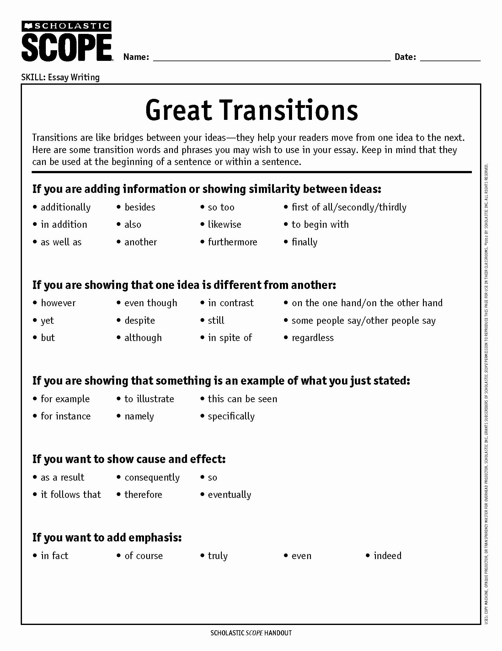 Argumentative Essay Transition Words Pdf New How to Choose the Perfect Transition Word or Phrase