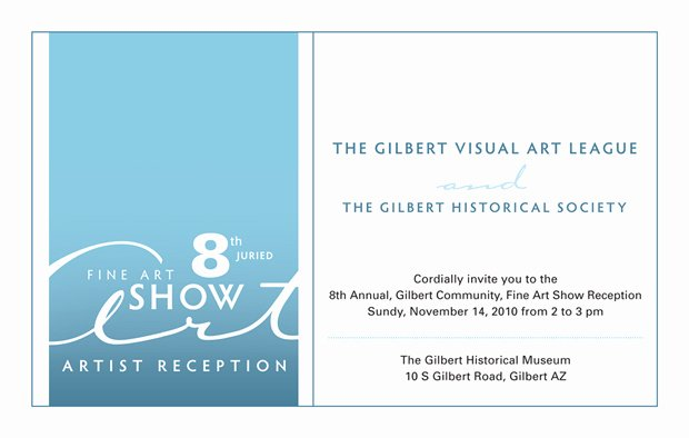 Art Show Invitation Template Beautiful Art Show Reception Invitation Promoting Fine Art and