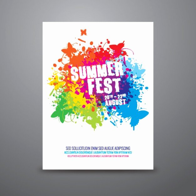 Art Show Invitation Template Luxury Summer Festival Poster Template Vector