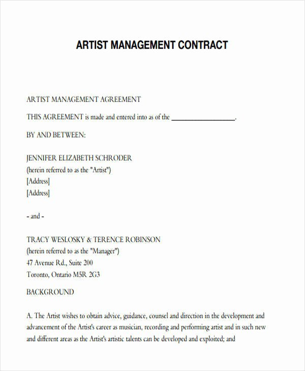 Artist Terms Of Service Template Beautiful 37 Contract Templates In Pdf