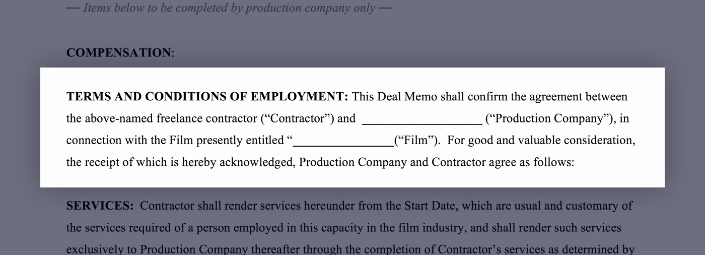 Artist Terms Of Service Template Lovely Mastering the Crew Deal Memo with Free Template