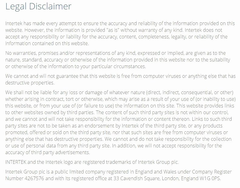 Artist Terms Of Service Template Lovely Sample Disclaimer Template Termsfeed