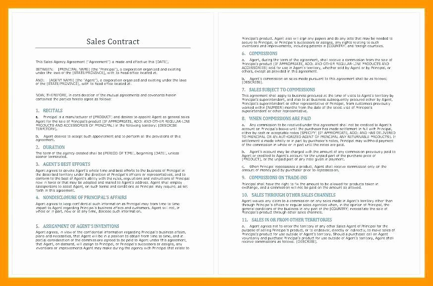 Artist Terms Of Service Template New Sales Agent Contracts
