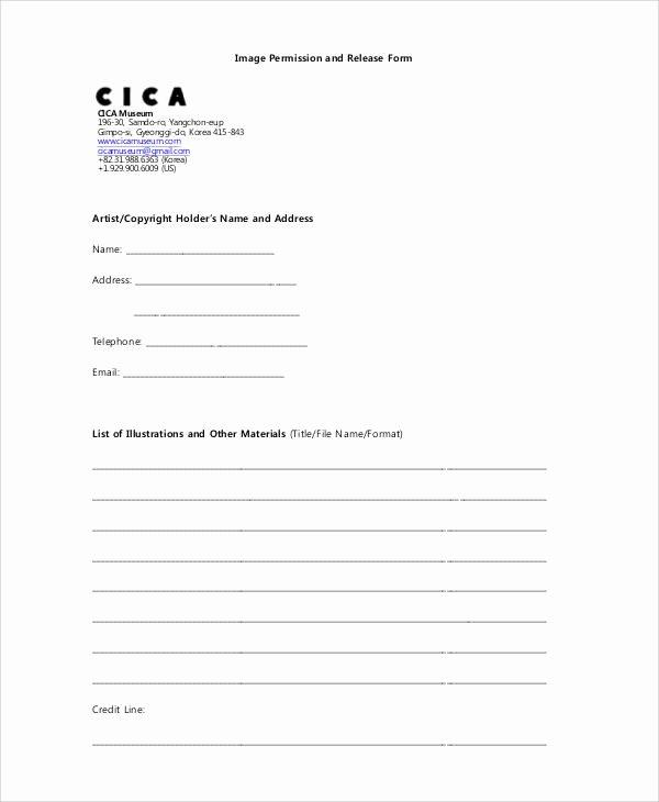Artwork Release form Template Elegant 47 Printable Release form Samples & Templates Pdf Doc