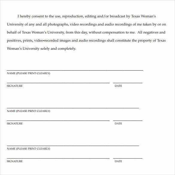 Artwork Release form Template Inspirational 7 Print Release forms Pdf
