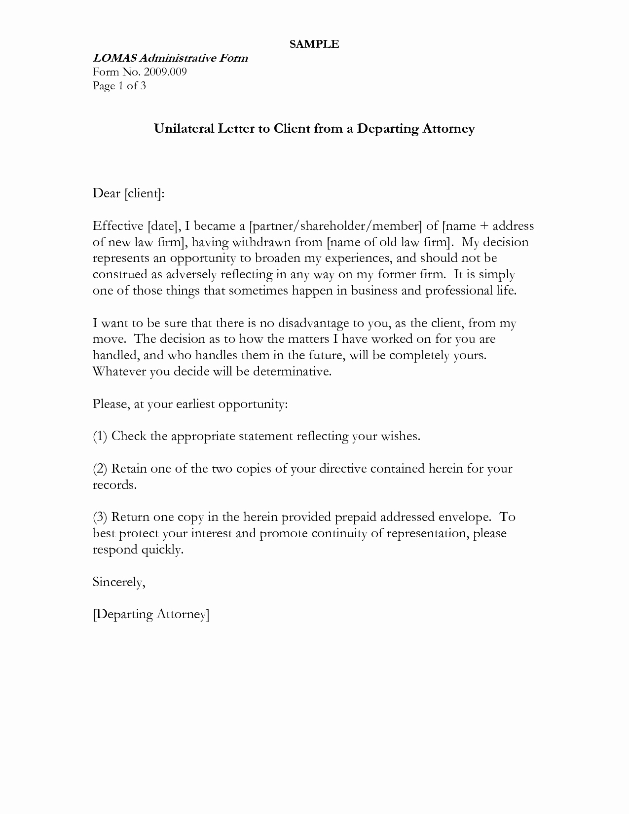 Attorney Client Letter Template Elegant Best S Of Sample Client Letter From attorney Lawyer