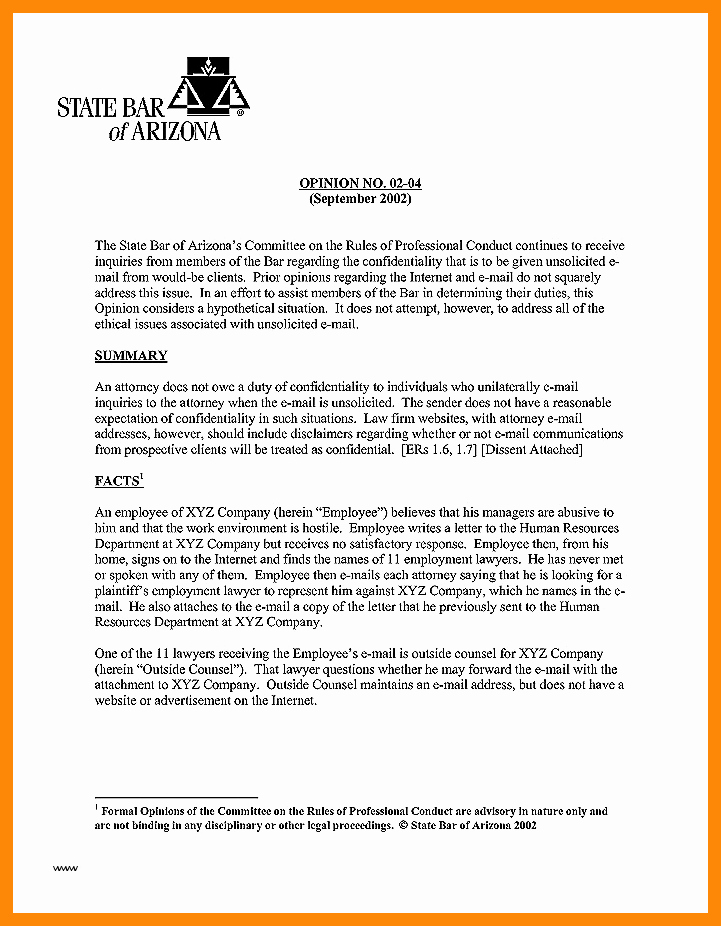 Attorney Client Letter Template New 0 1 Opinion Letter format