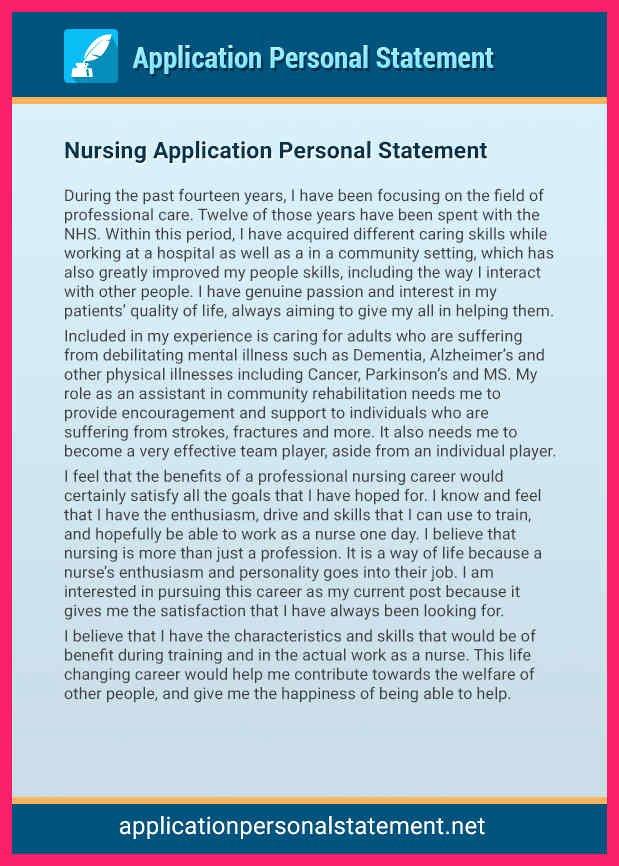 Autobiography for Grad School New Nursing Personal Statement