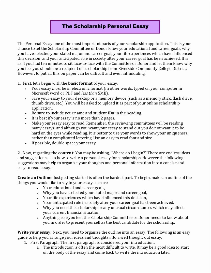 Autobiography for Scholarship Examples Awesome 10 Scholarship Essay Examples Free Pdf format Download