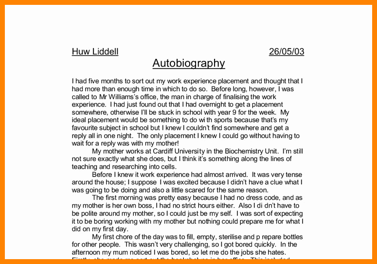 Autobiography for Scholarship Examples Luxury 7 Example Of Biography Essay