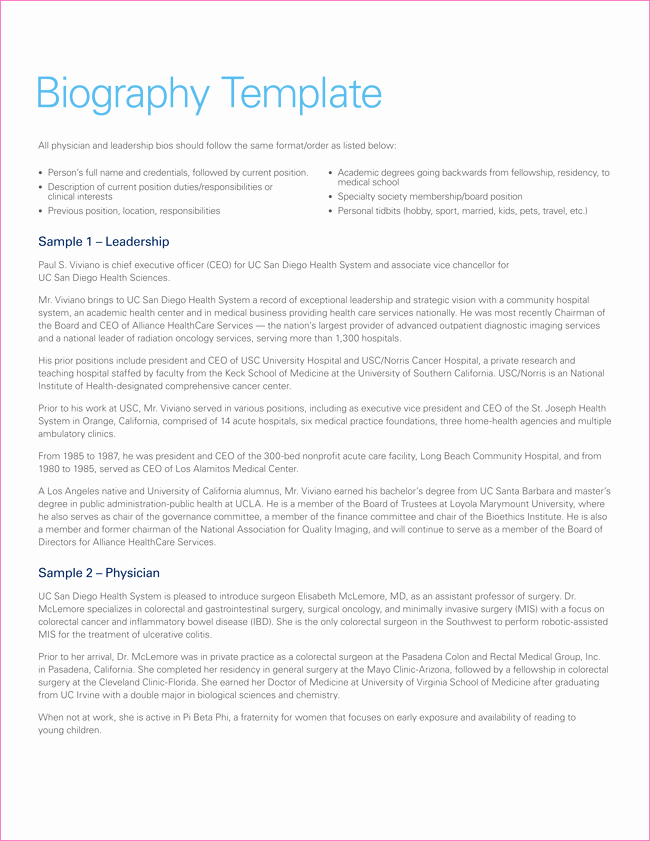 Autobiography for Scholarship Examples Unique 38 Biography Templates with Download In Word & Pdf