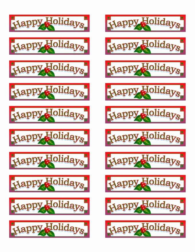 Avery Door Hanger Template for Word Awesome Free Avery 5160 Christmas Label Template – Festival