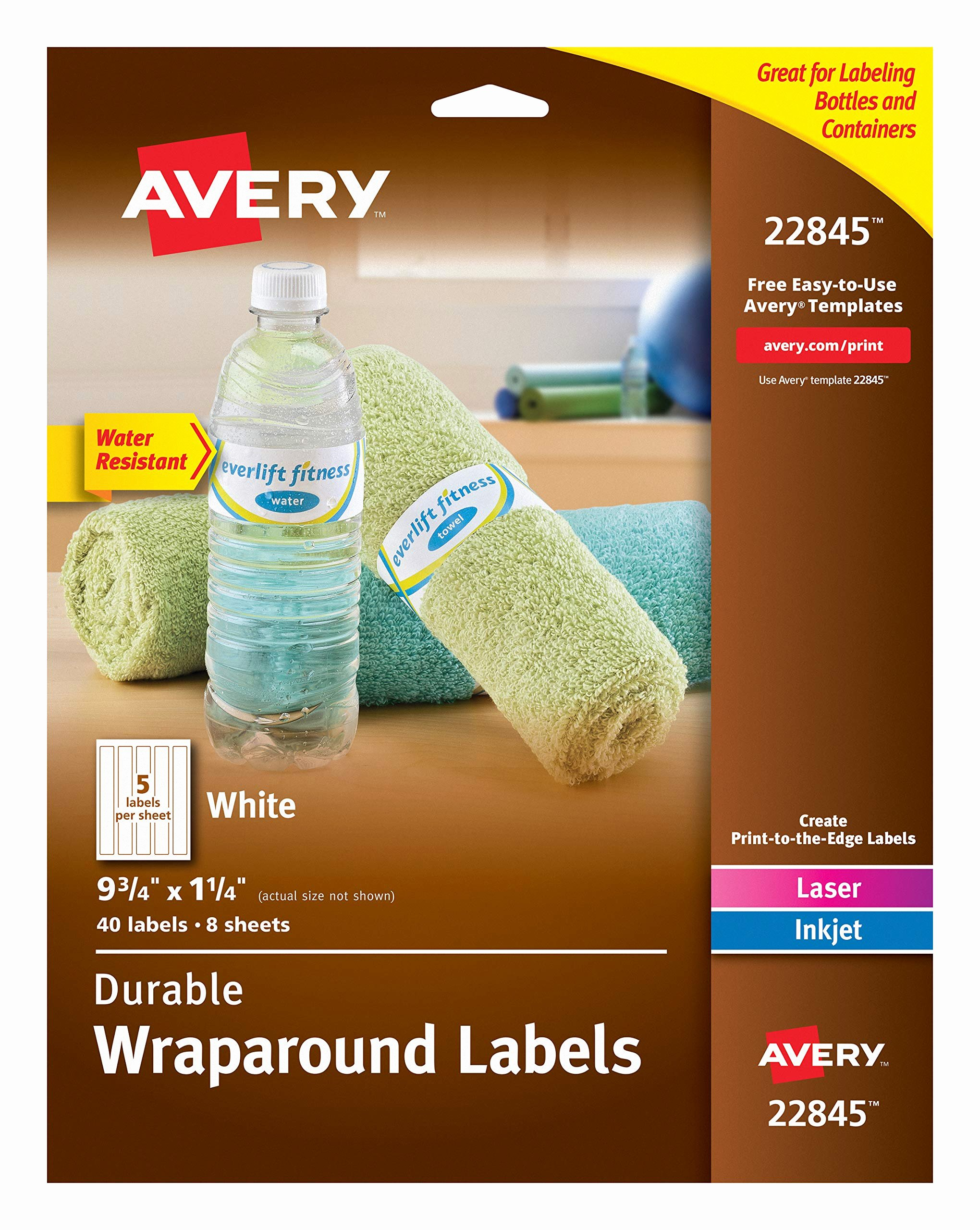 Avery Labels for Water Bottles Fresh Amazon 180 Mini Candy Bar Labels or Printable