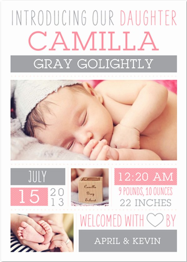 Baby Announcement Email Awesome Cute Birth Announcements April Golightly