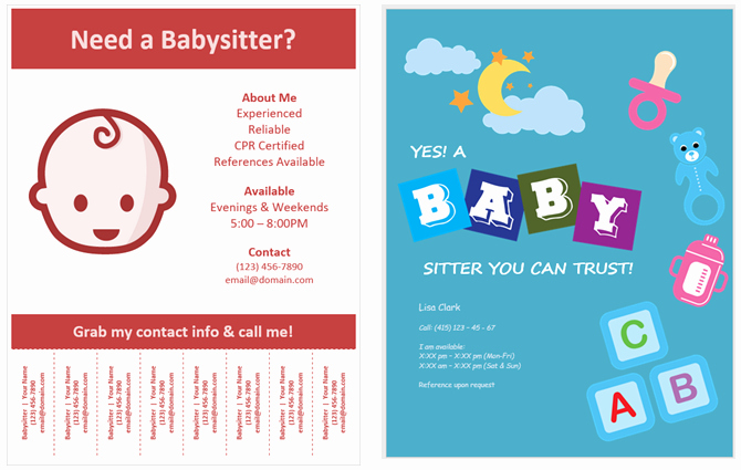 Babysitter Flyer Template Microsoft Word Unique How to Make Flyers In Microsoft Word with Free Templates