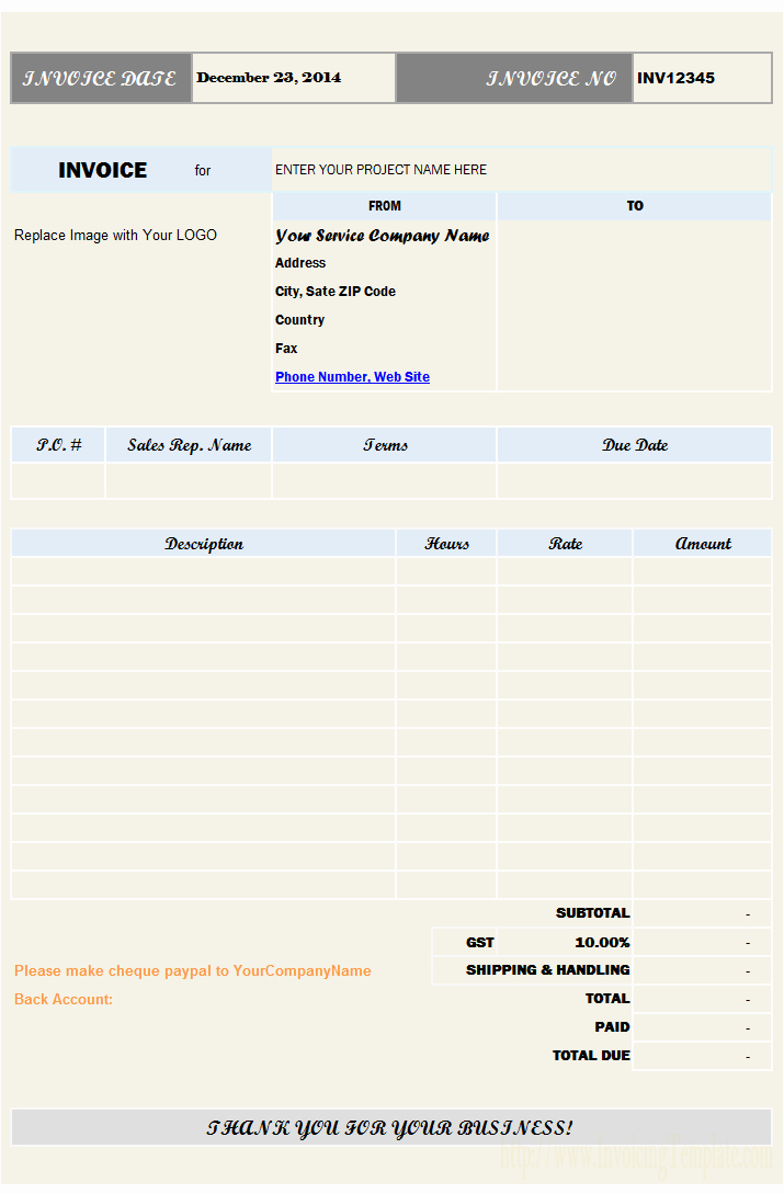 Back Charge Construction Best Of Contractor Invoice Templates Free 20 Results Found