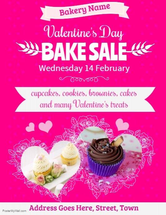 Bake Sale Flyer Ideas Elegant Valentines Bake Sale Flyer Template