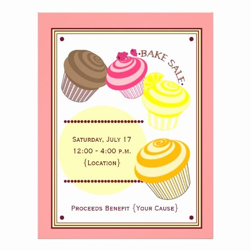 Bake Sale Flyer Ideas Luxury Bake Sale Flyer Cupcakes