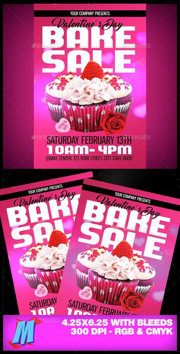 Bake Sale Flyer Ideas Unique Valentines Bake Sale Flyer Template