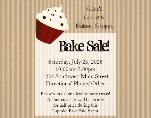Bake Sale Flyer Template Free Lovely 33 Bake Sale Flyer Templates Free Psd Indesign Ai