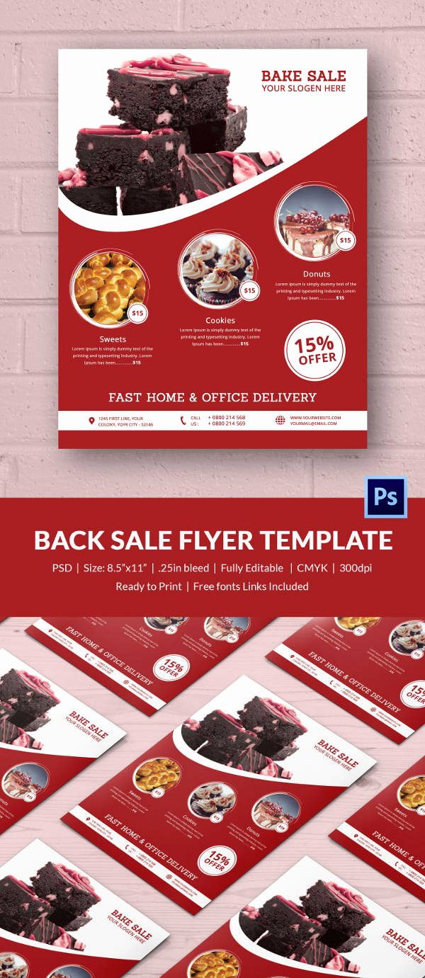 Bake Sale Flyer Template Free New Bake Sale Flyer Template 34 Free Psd Indesign Ai