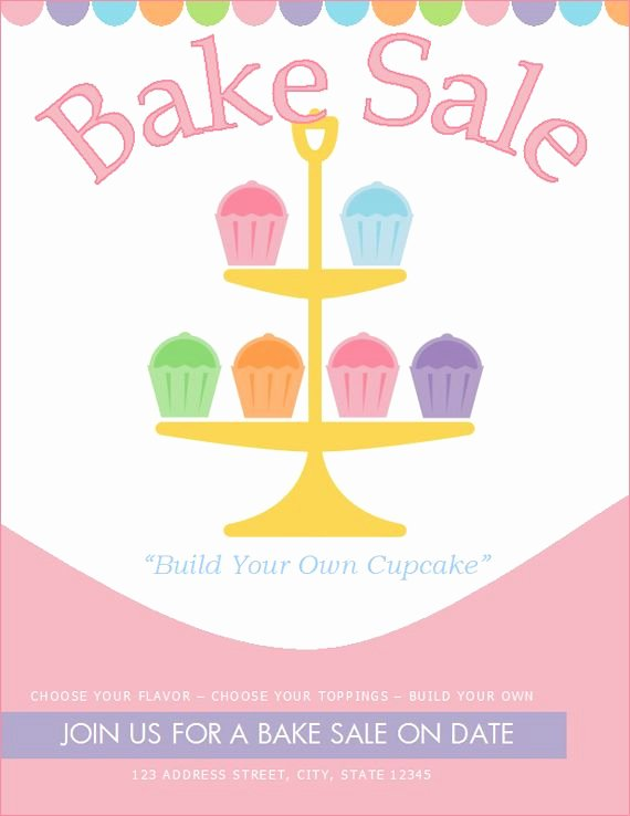 Bake Sale Flyer Templates Free Awesome Free Bake Sale Flyer Template