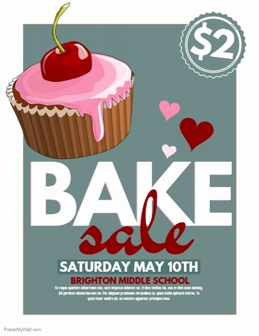 Bake Sale Flyer Templates Free Beautiful Bake Sale Template