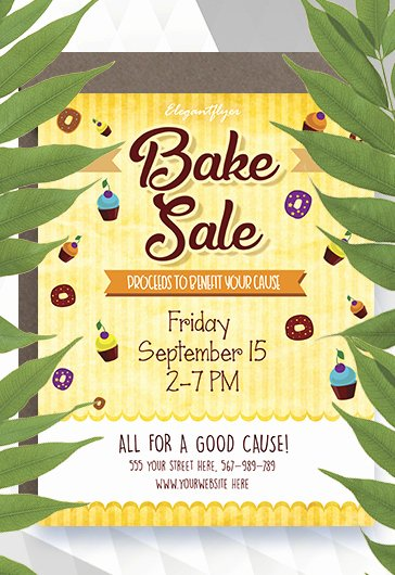 Bake Sale Flyer Templates Free Best Of Bake Sale Free Flyer Template – by Elegantflyer
