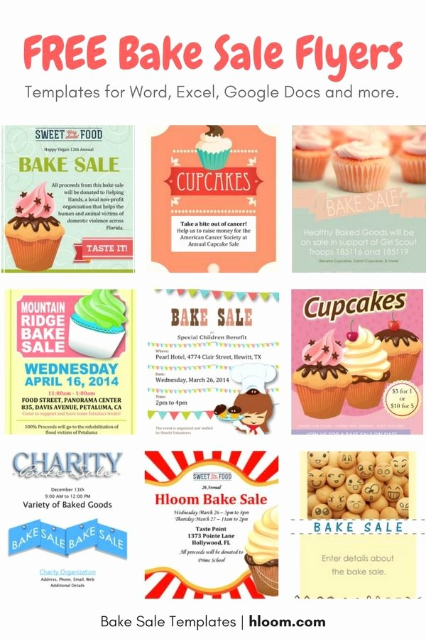 Bake Sale Flyer Templates Free Elegant 22 Best Bake Sale Flyers Images On Pinterest