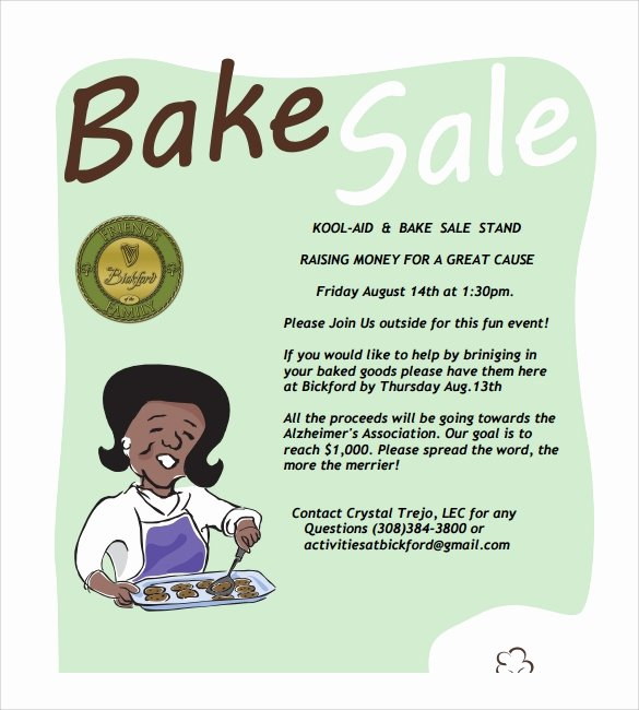 Bake Sale Flyer Templates Free Fresh 21 Bake Sale Flyers Templates Publisher Psd Ms Word