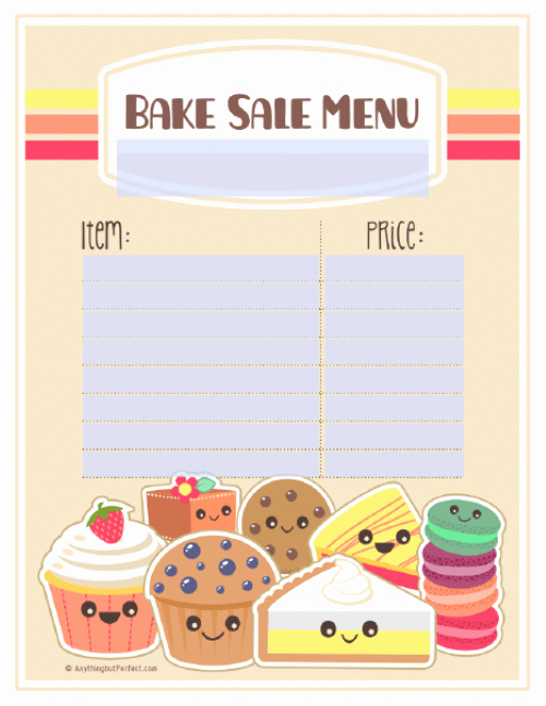 Bake Sale Flyer Templates Free Fresh Bake Sale Printable Labels Set