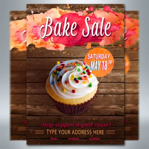 Bake Sale Flyer Templates Free Inspirational 32 Bake Sale Flyer Templates Ai Psd Publisher