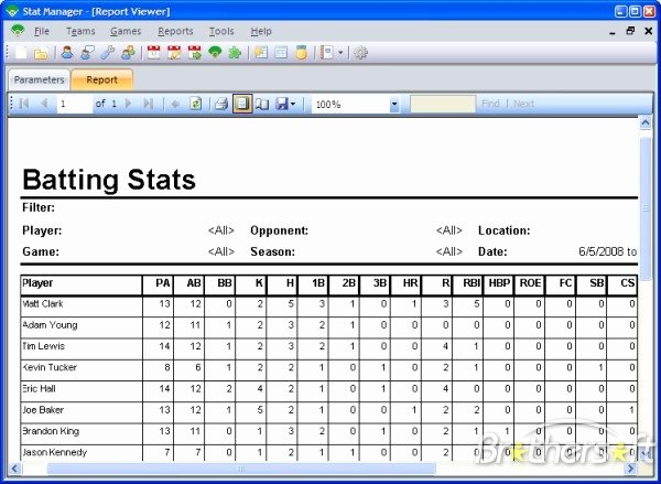 Baseball Card Inventory Excel Template Beautiful Download Free Stat Manager Stat Manager 2 0 4 0 Download