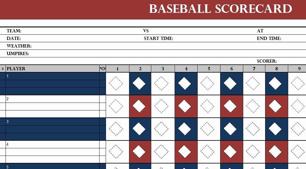 Baseball Card Inventory Excel Template Best Of Baseball Scorecard Template My Excel Templates