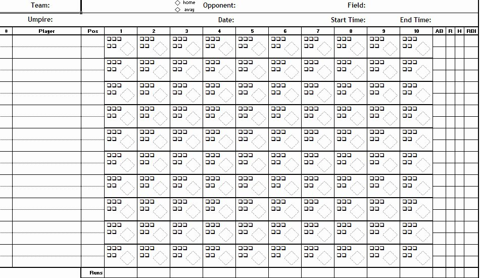 Baseball Card Inventory Excel Template New Baseball Scorecard Excel Template