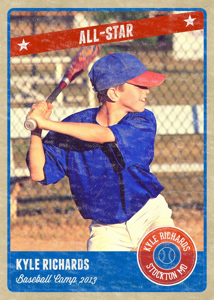 Baseball Card Size Template Awesome Graphy Card Template Retro Sports Baseball