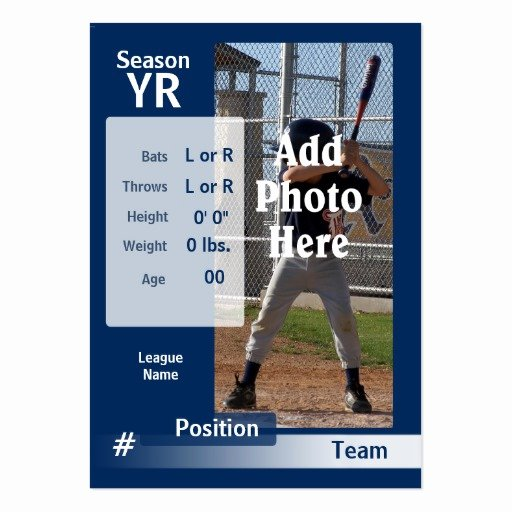 Baseball Card Size Template Elegant Custom Baseball Trading Card In Blue Business Cards