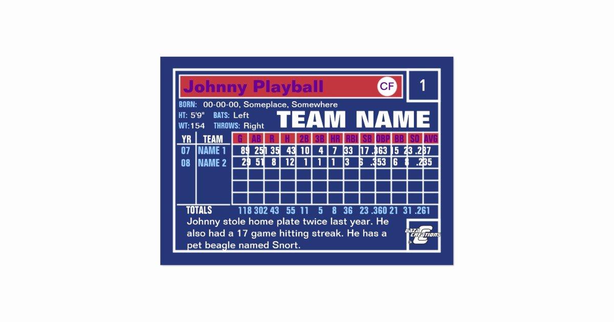 Baseball Card Size Template Elegant Make Your Own Baseball Card Business Card