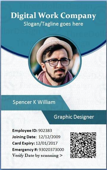Baseball Card Size Template Fresh Employee Card format In Word