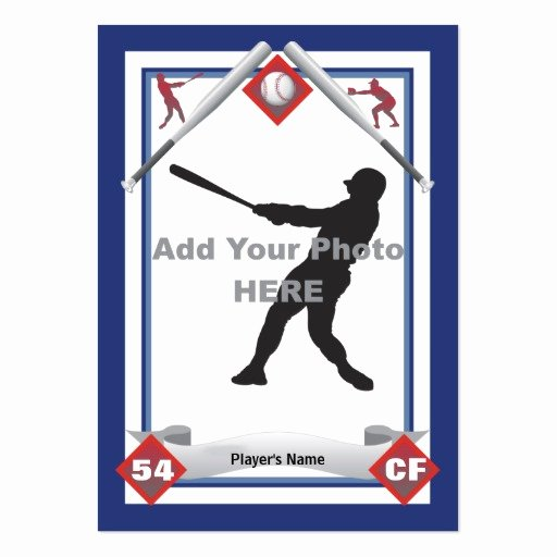 Baseball Card Size Template Lovely Make Your Own Baseball Card Business Cards Pack