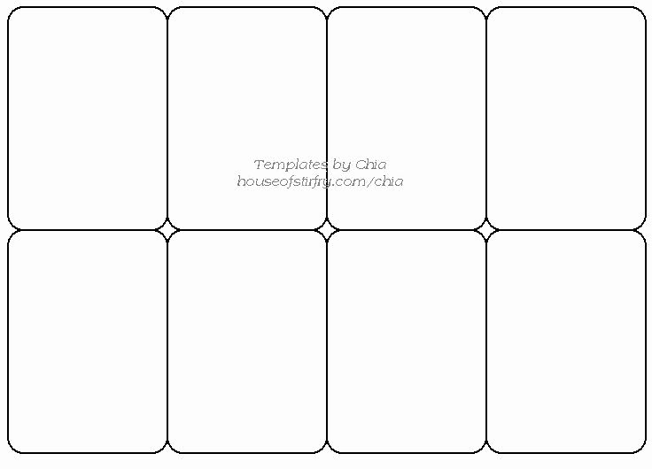 Baseball Card Size Template Lovely Templete for Playing Cards Artist Trading Cards