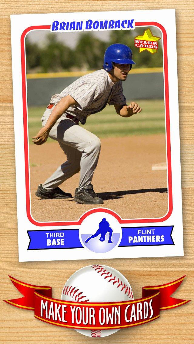 Baseball Card Size Template Unique App Shopper Free Baseball Card Template — Create
