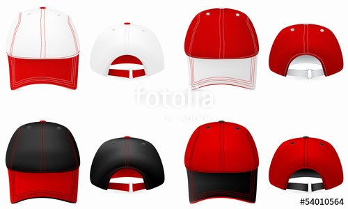"Baseball Hat Vector Awesome ""baseball Hat Template Front and Back View "" Stock Image"