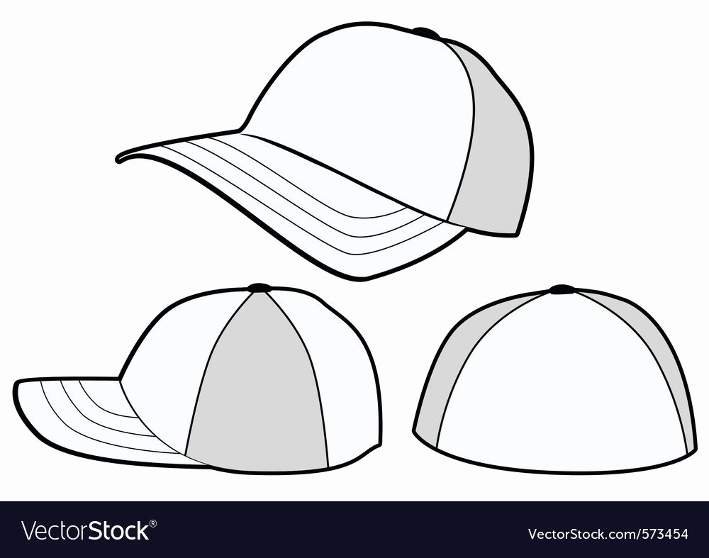 Baseball Hat Vector Fresh Baseball Hat or Cap Template Royalty Free Vector Image