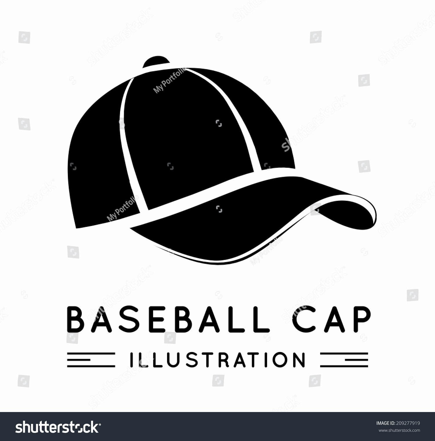 Baseball Hat Vector Luxury Baseball Cap Flat Style Vector Illustration Stock Vector