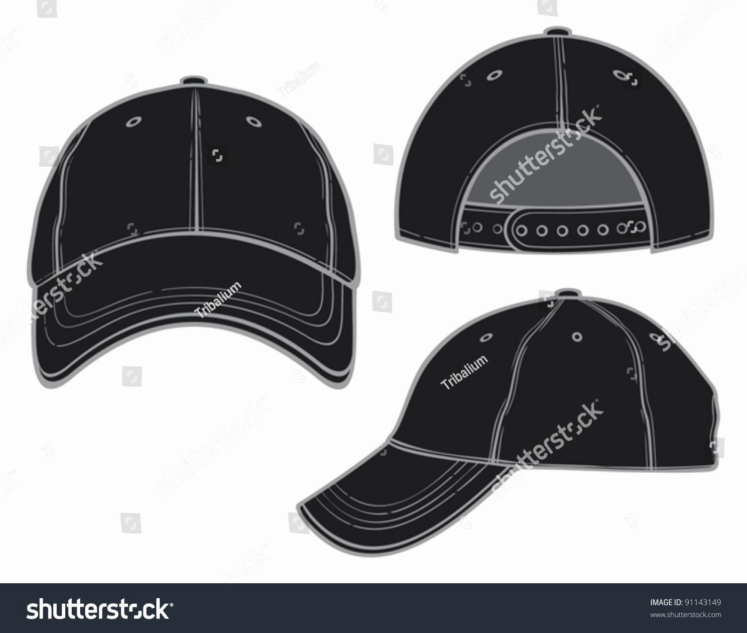 Baseball Hat Vector Luxury Black Baseball Cap Stock Vector Shutterstock