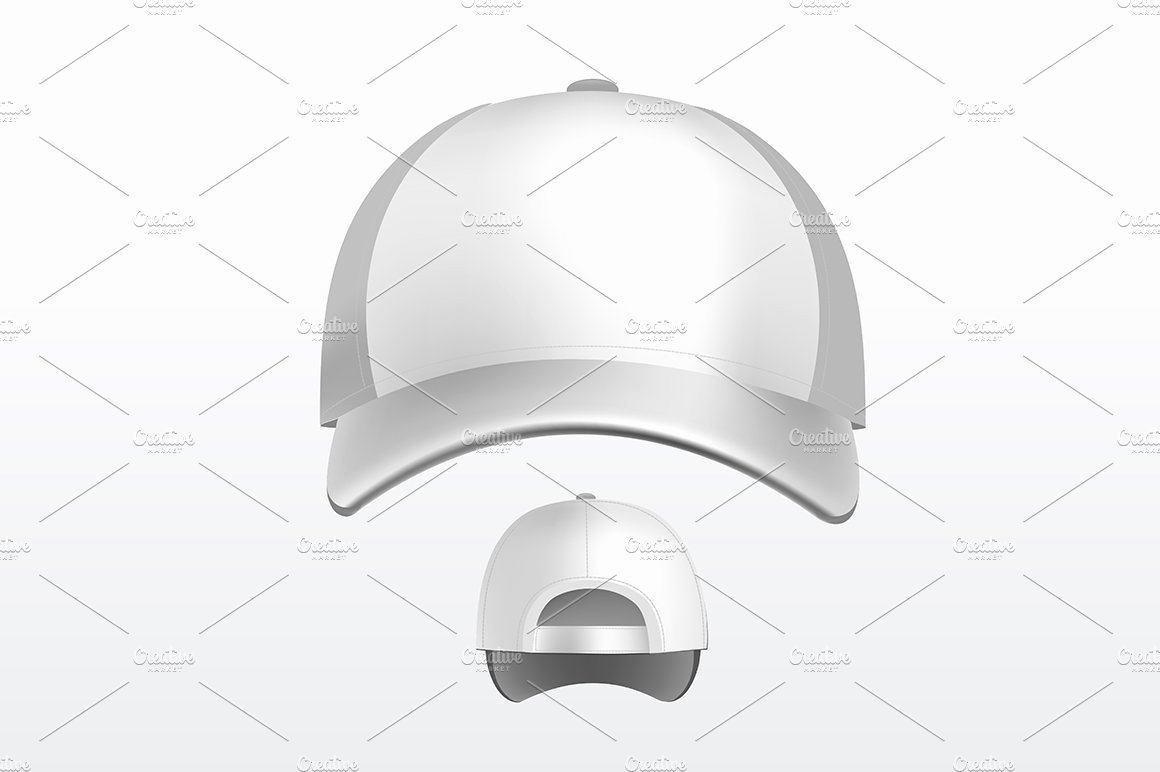 Baseball Hat Vector New Vector Baseball Cap Illustrations Creative Market
