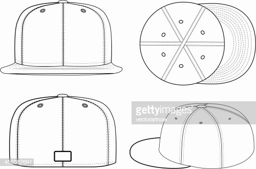 Baseball Hat Vector Unique Baseball Cap Vector Art