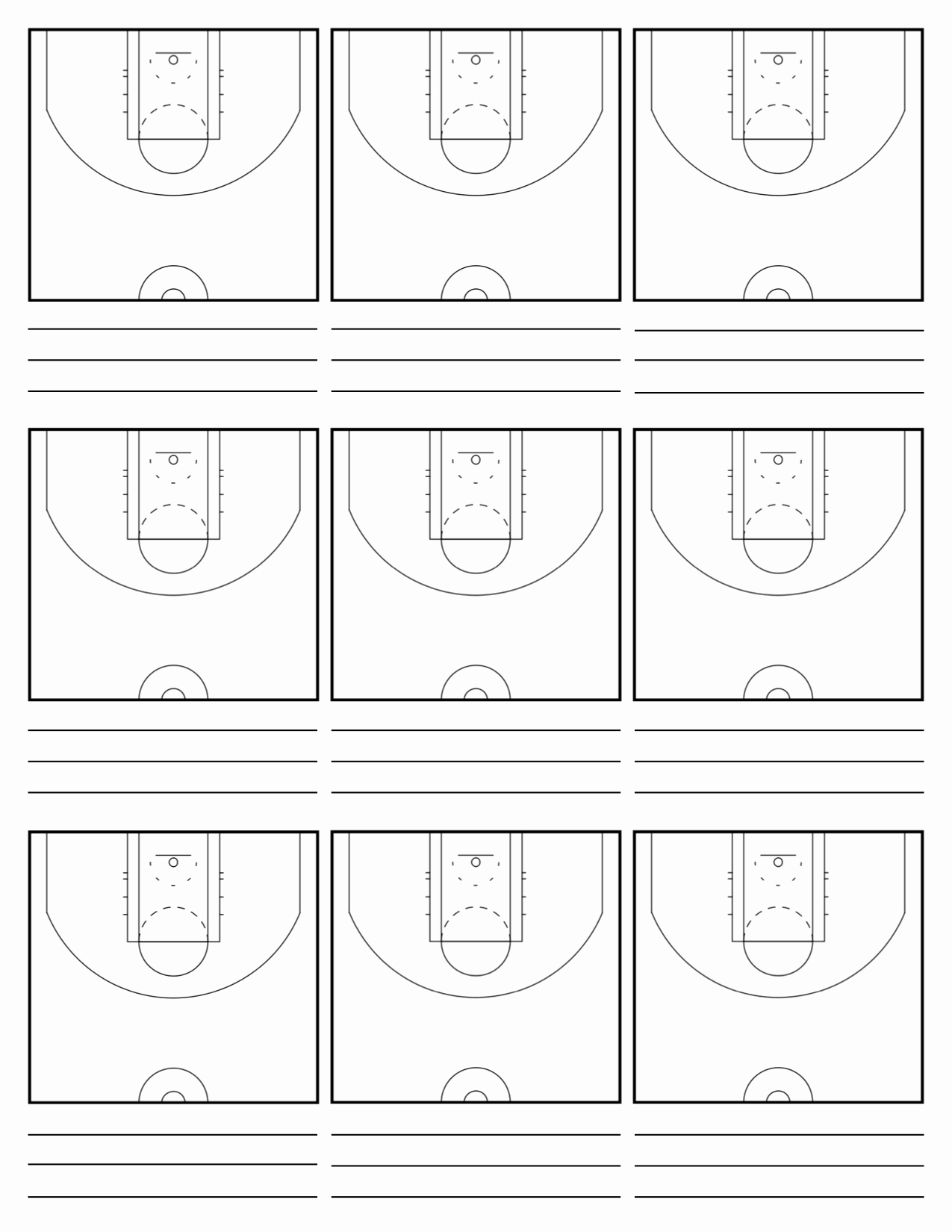 Basketball Play Diagram Inspirational Custom Court Diagram Sheets